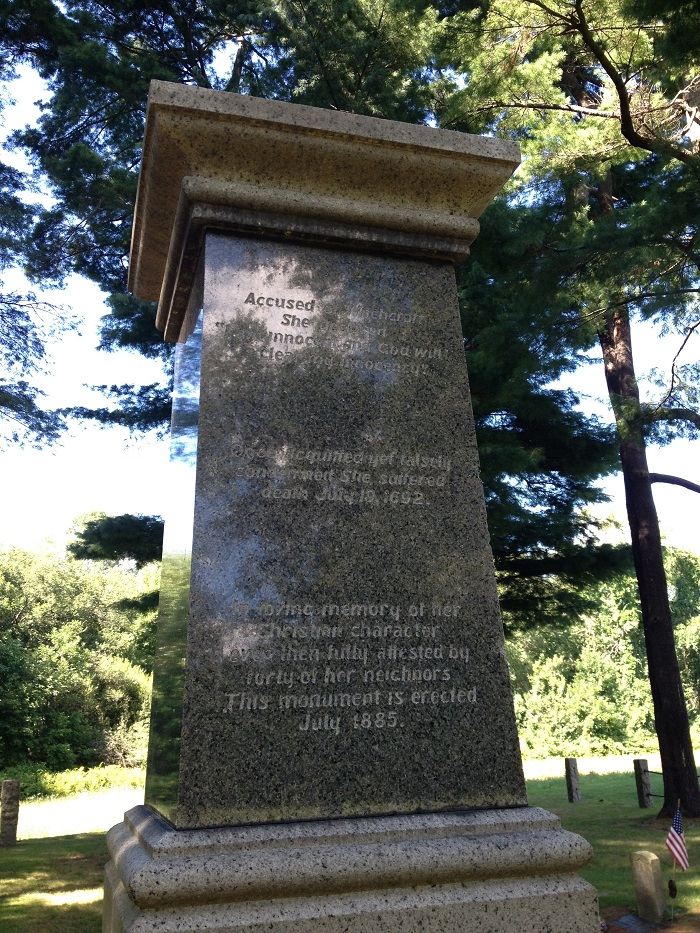 Rebecca Nurse Monument, back, Danvers, Mass