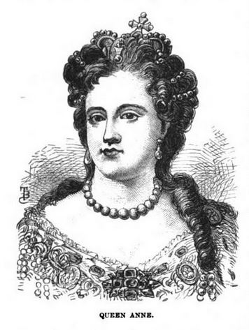 Queen Anne, illustration published in The Border Wars of New England, circa 1897