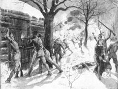 Attack on Deerfield Illustration by Walter Henry Lippincott circa 1900