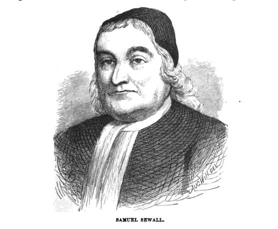 Samuel Sewall, illustration, published in The Border Wars of New England, circa 1897