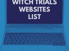 Salem Witch Trials Websites List