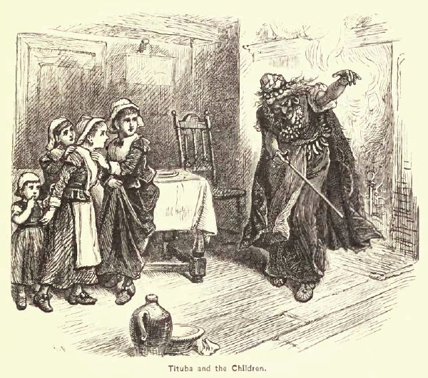 Tituba and the Children, Illustration by Alfred Fredericks published in A Popular History of the United States, circa 1878