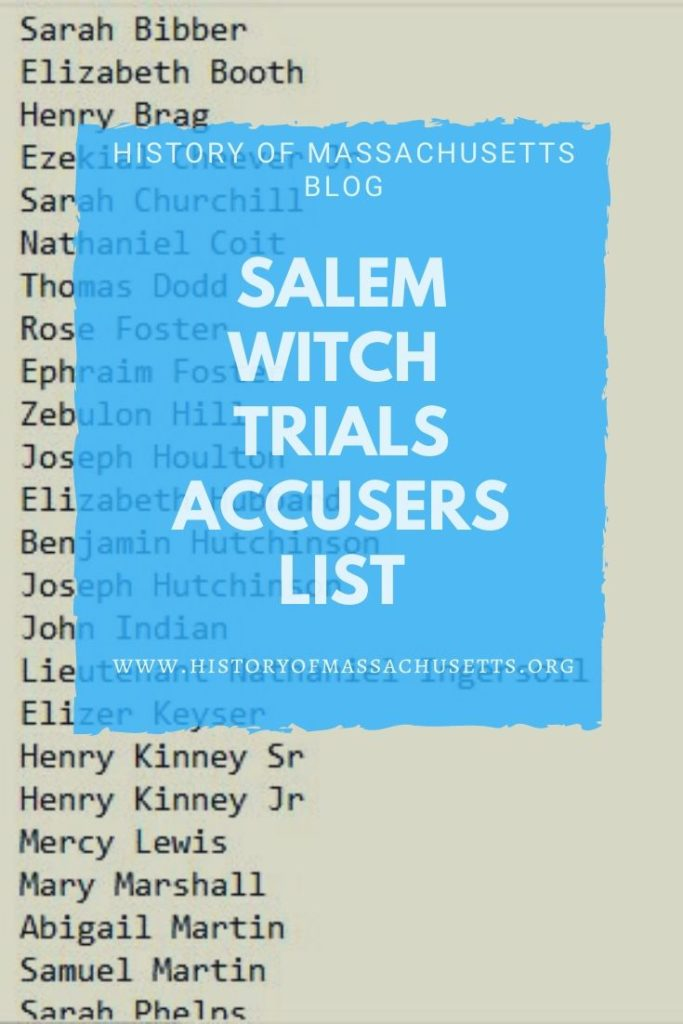 Salem Witch Trials Accusers List
