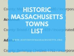 Historic Massachusetts Towns List