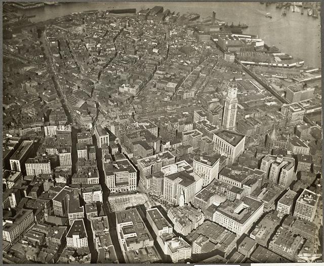 Downtown Boston in 1930