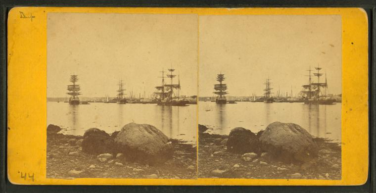 Gloucester harbor, photographed by John S. E. Rogers, circa 19th century