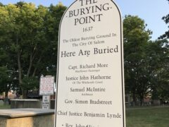 Old Burying Point Cemetery, Salem, Mass