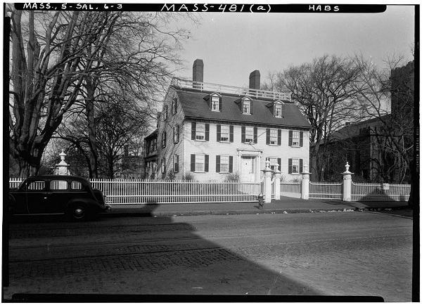 Ropes Mansion, 318 Essex Street, Salem, Mass, circa 1933