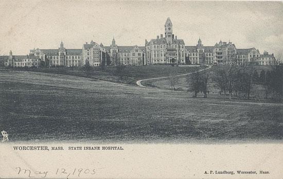 Worcester State Insane Asylum, Worcester, Mass, circa 1905