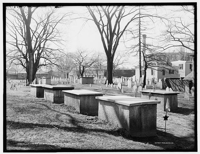 Old Burying Point Cemetery in Salem, Mass in 1910