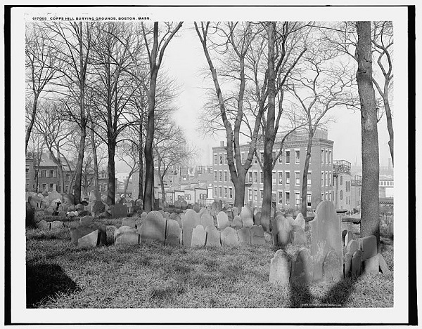 Copp's Hill Burying Ground, Boston, Mass, circa 1904