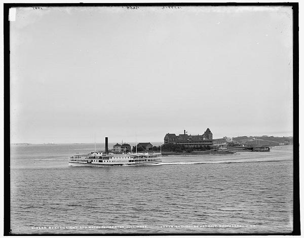 View of Hull, Mass from Paddock's Island circa 1901