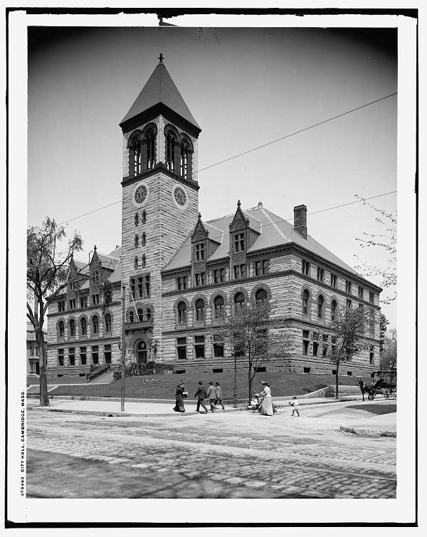 Cambridge City Hall in 1908