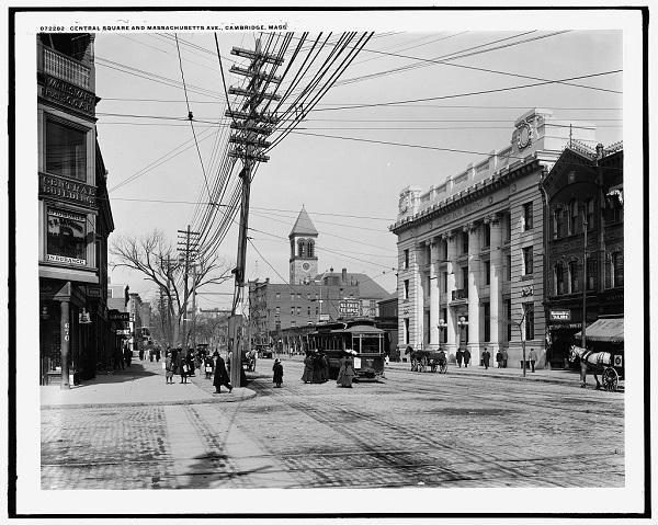 Central Square and Massachusetts Ave, Cambridge, Mass, circa 1910-1920