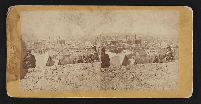 View of Lynn, Mass, from High Rock, circa 1870