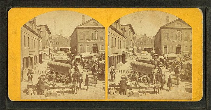Derby Square, Salem, Mass, photographed by Cook & Friend, circa 19th Century
