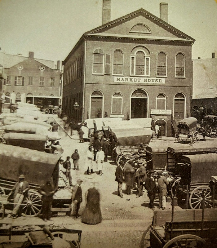 Old Town Hall in Derby Square, Salem Mass, circa 19th century