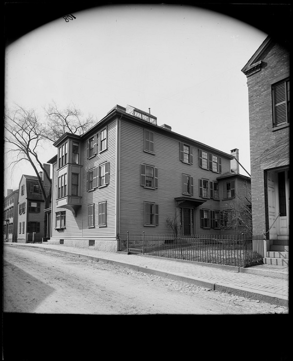 Abner C Goodell House, Witch Jail, Salem, Mass, photographed by Frank Cousins