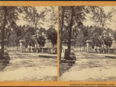 Entrance to Pine Grove Cemetery in Lynn, Mass