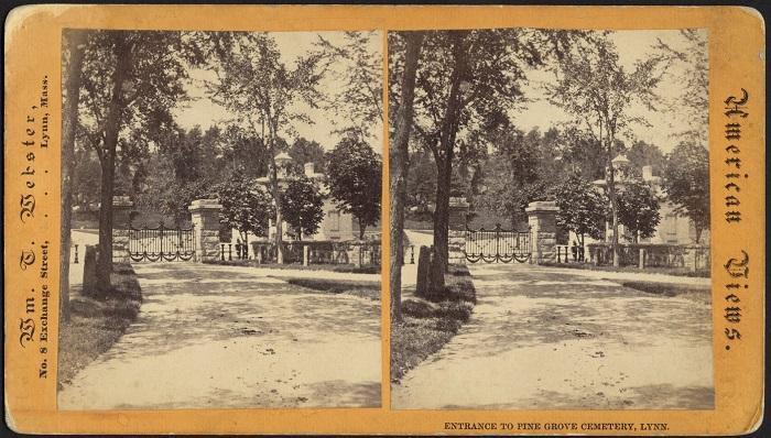 Entrance to Pine Grove Cemetery, Lynn, Ma