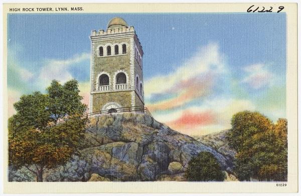 High Rock Tower Lynn Mass, postcard circa 1930