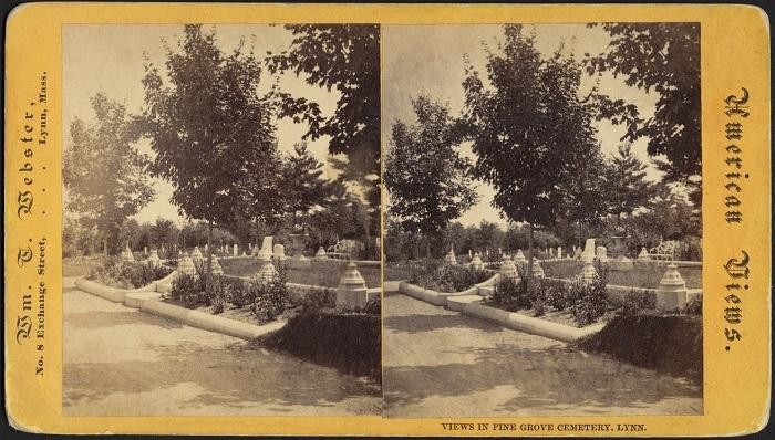 Graves in Pine Grove Cemetery, Lynn, Mass
