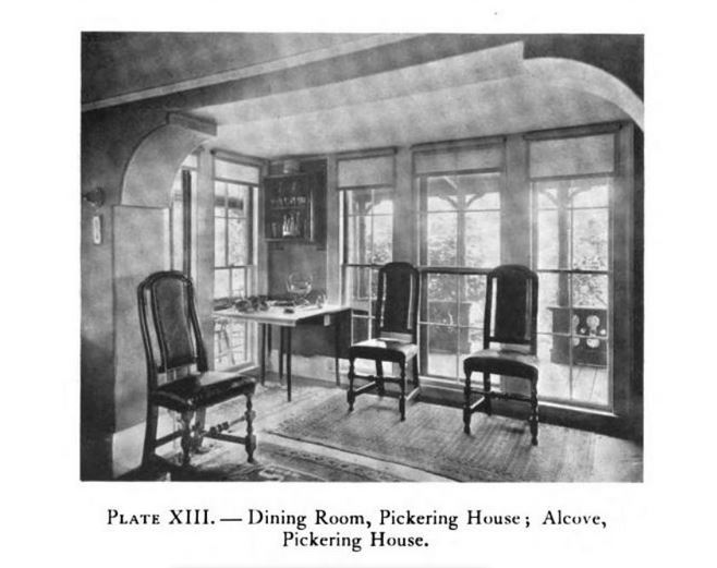 Alcove, Pickering House, Salem, photo published in Historic Homes of New England in 1914