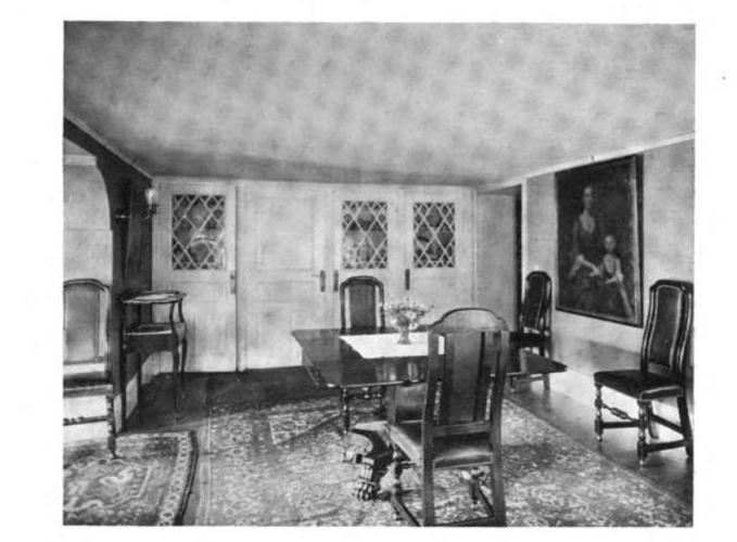 Dining Room, Pickering House, photo published in Historic Homes of New England in 1914